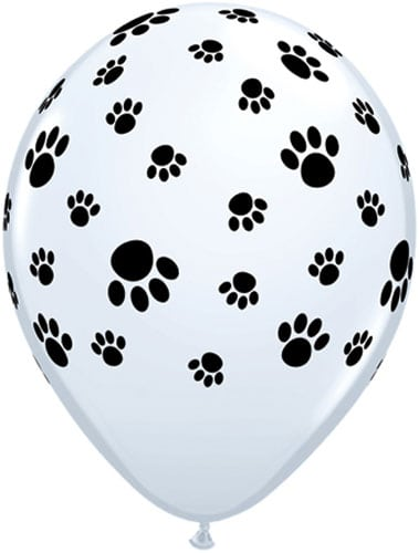 Dog Paw Print Latex Balloons - Dog Birthday Parties - Fabulous Partyware